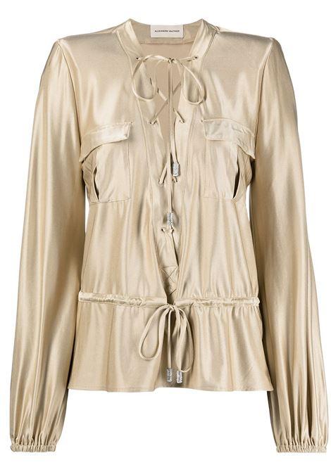 Alexandre Vauthier blusa con lacci donna sand ALEXANDRE VAUTHIER | Bluse | 211TO1409SND