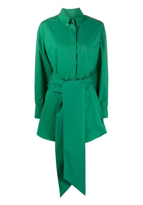 Alexandre Vauthier chemisier con cintura donna emerald ALEXANDRE VAUTHIER | Abiti | 212DR1460EMRLD