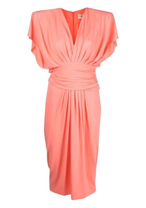 Alexandre vauthier ruched midi dress women coral ALEXANDRE VAUTHIER | Dresses | 212DR1471CRL