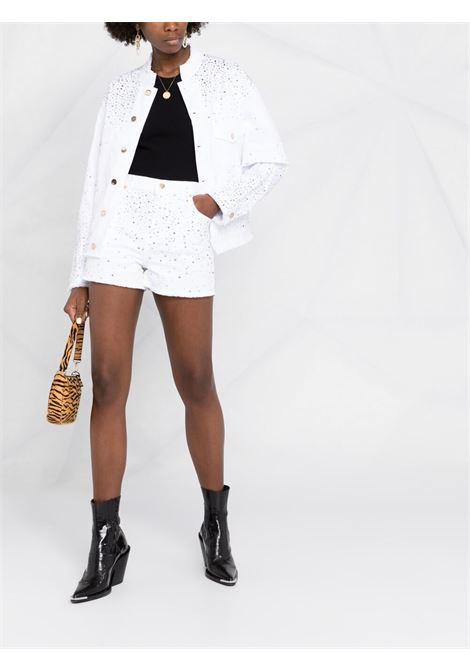 Alexandre vauthier embellished denim shorts women white ALEXANDRE VAUTHIER | 212PA1403BWHT