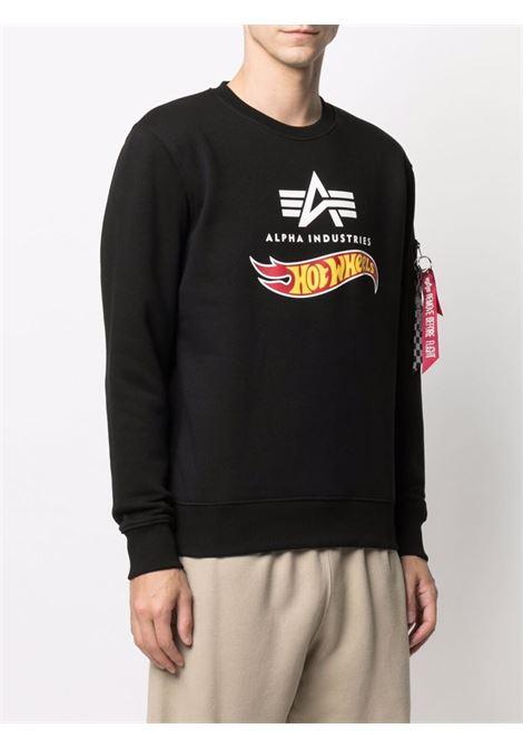 Logo sweatshirt men ALPHA INDUSTRIES X HOT WEELS | 11631603