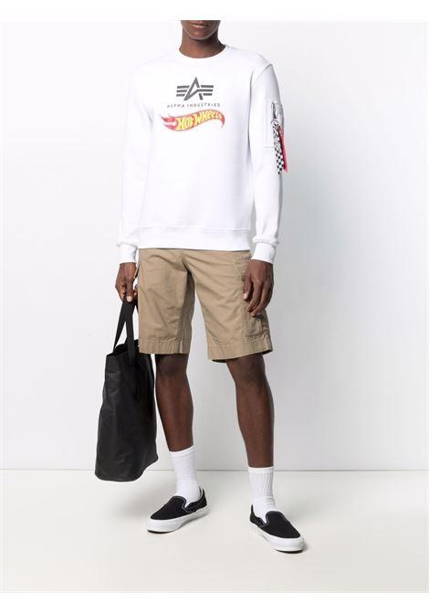Logo sweatshirt men ALPHA INDUSTRIES X HOT WEELS | 11631609