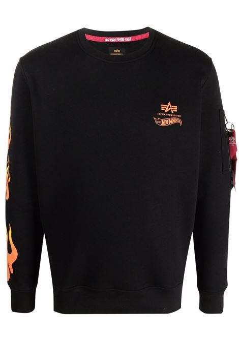Logo sweatshirt men ALPHA INDUSTRIES X HOT WEELS | Sweatshirts | 11631703