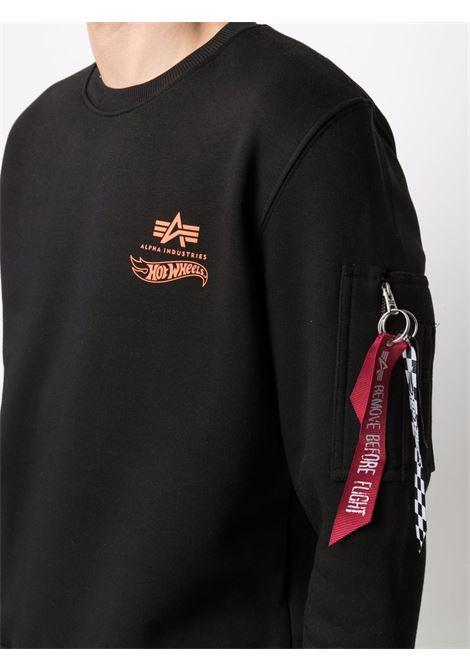 Logo sweatshirt men ALPHA INDUSTRIES X HOT WEELS | 11631703