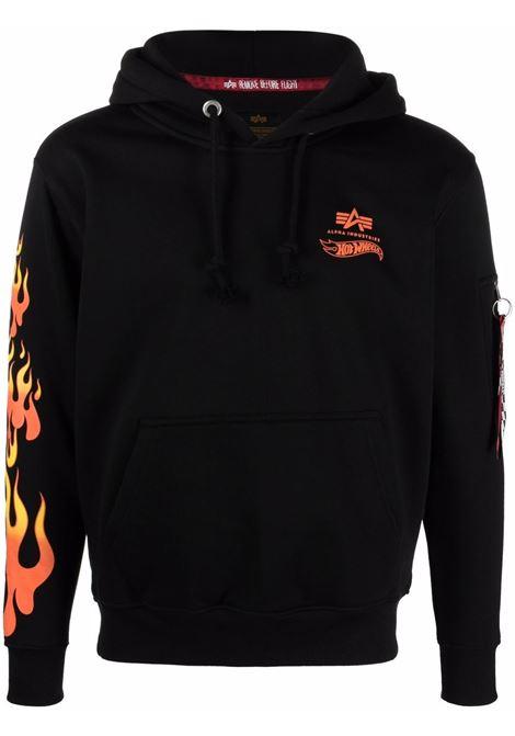 Logo sweatshirt men ALPHA INDUSTRIES X HOT WEELS | Sweatshirts | 116345A03