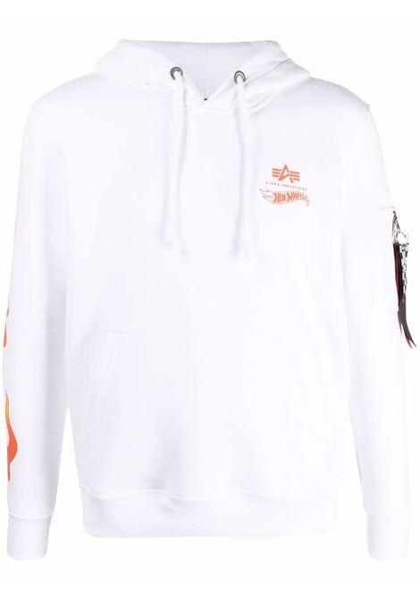 Logo sweatshirt men ALPHA INDUSTRIES X HOT WEELS | Sweatshirts | 116345A09
