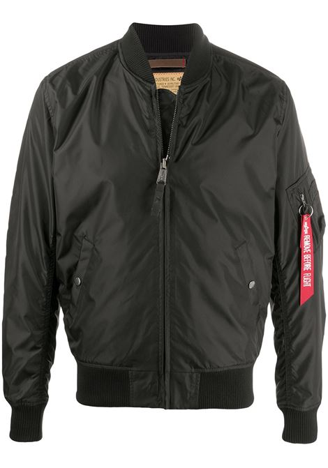 Alpha industries bomber jacket black ALPHA INDUSTRIES | Outerwear | 19110303