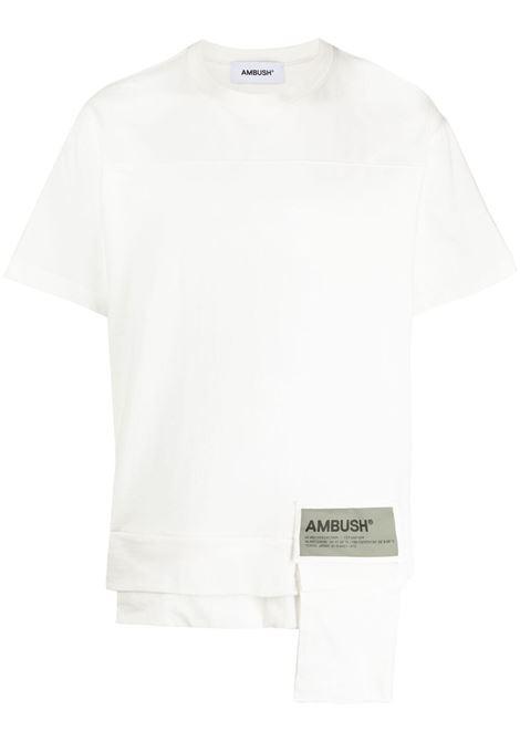 Ambush pocket t-shirt men off white light grey AMBUSH | T-shirt | BMAA004S21JER0010305