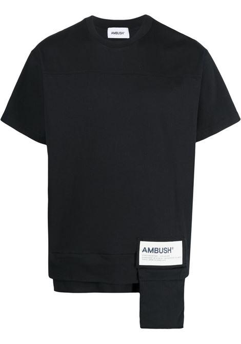 Ambush pocket t-shirt men black white AMBUSH | T-shirt | BMAA004S21JER0011004