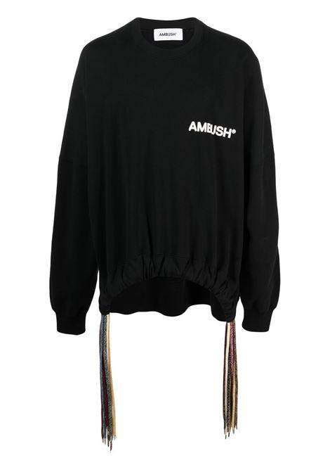 Ambush logo sweatshirt men black white AMBUSH | Sweatshirts | BMBA007S21FLE0011004