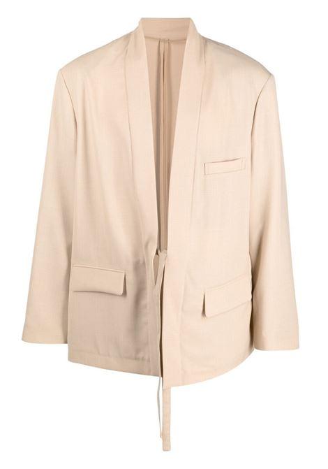 Ambush giacca con allacciatura sul davanti uomo sesame AMBUSH | Giacche | BMEN010S21FAB0016200