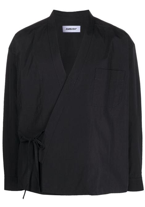 Ambush camicia kimono uomo jet black AMBUSH | Camicie | BMGA014S21FAB0011000