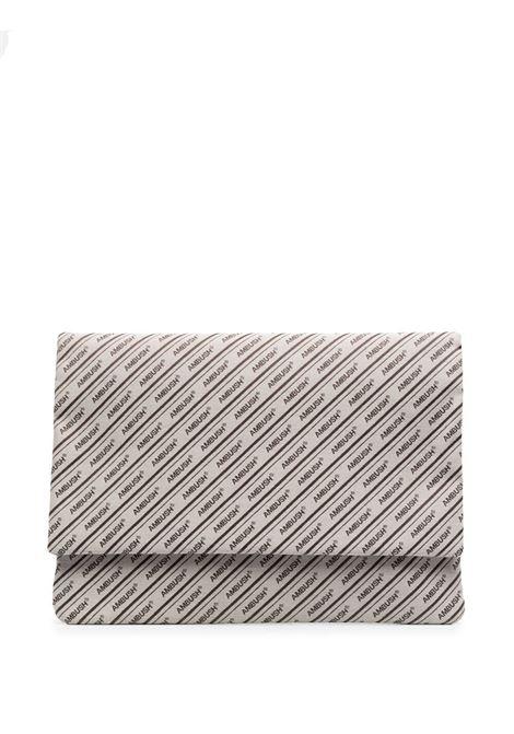 Ambush logo laptop bag men beige brown AMBUSH | Hand bags | BMNM003S21FAB0016160