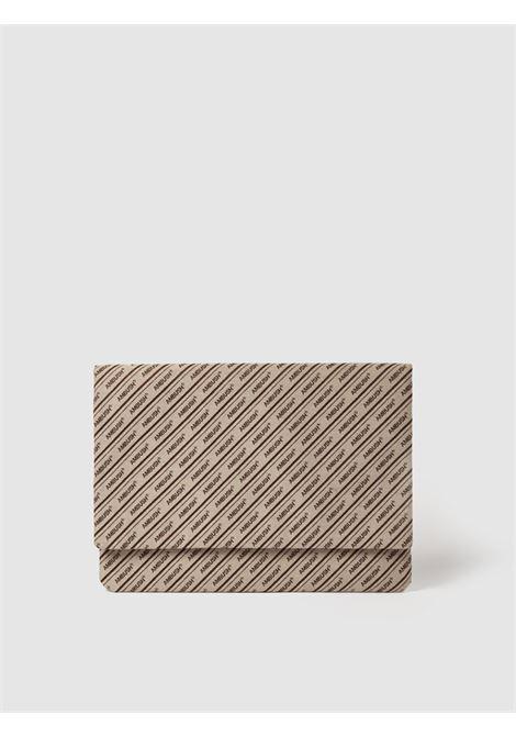 Ambush logo laptop bag men beige brown AMBUSH | BMNM003S21FAB0016160