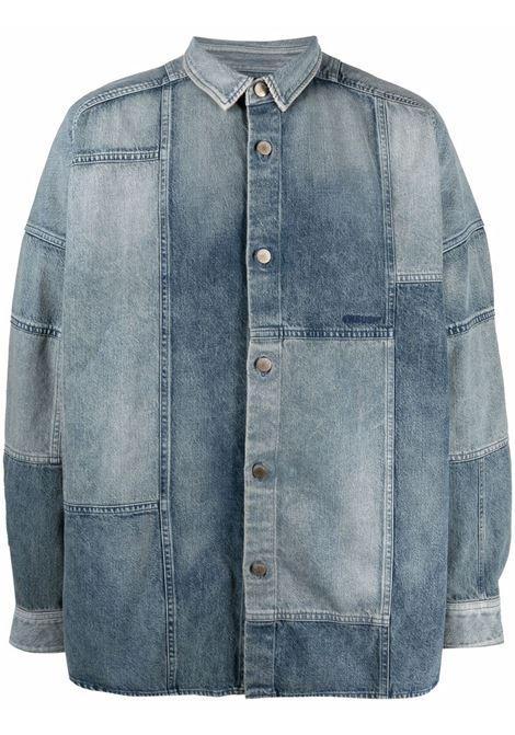 Ambush patchwork shirt mid blue AMBUSH | Shirts | BMYD003S21DEN0014545