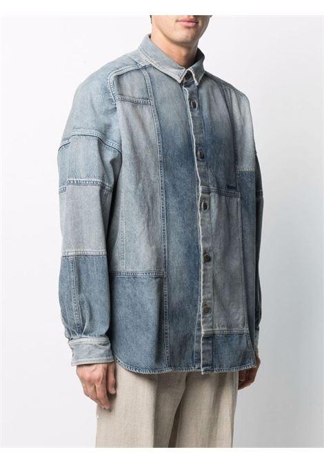 Ambush patchwork shirt mid blue AMBUSH | BMYD003S21DEN0014545