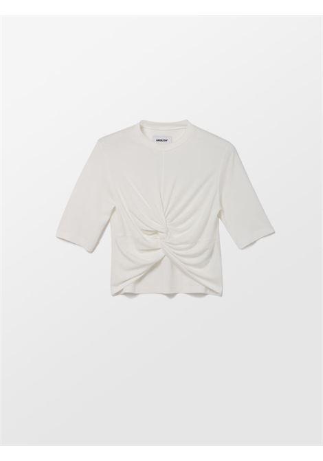 T-shirt con dettaglio a nodo Donna AMBUSH   BWAA007S21JER0010300