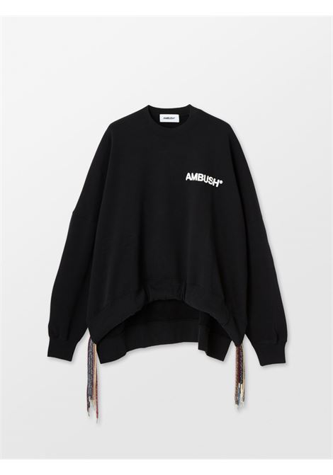 Ambush logo sweatshirt black white AMBUSH | BWBA003S21FLE0011004
