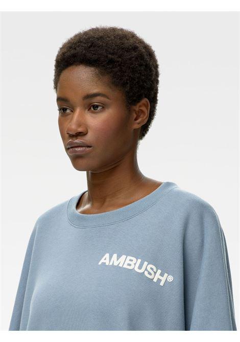 Ambush logo sweatshirt light blue white AMBUSH | BWBA003S21FLE0014004