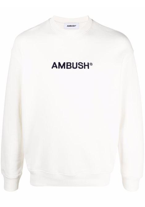 Ambush logo sweatshirt off white navy blue AMBUSH | BWBA005S21FLE0010346