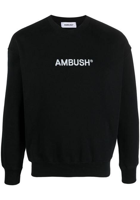 Ambush logo sweatshirt women black light blue AMBUSH | BWBA005S21FLE0011040