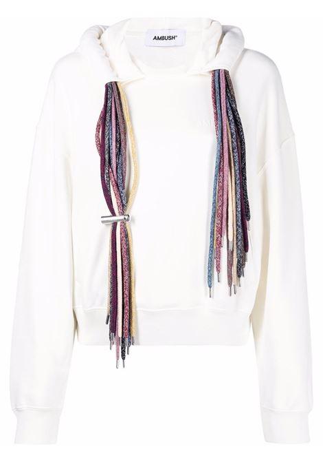 Ambush multi-drawstring sweatshirt off white AMBUSH | BWBB004S21FLE0010304