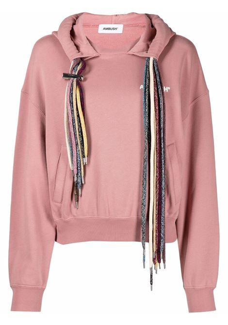 Ambush multi-drawstring sweatshirt pink white AMBUSH | BWBB004S21FLE0013004