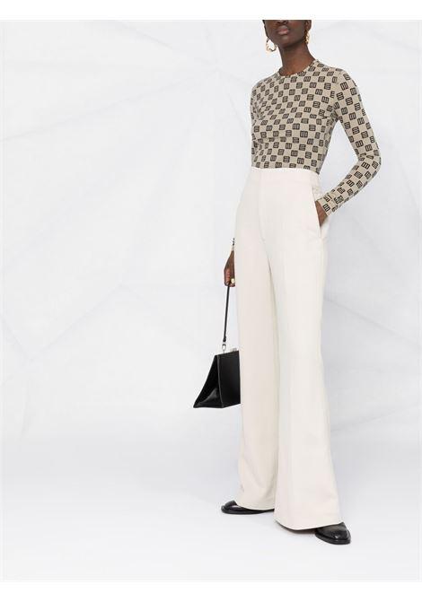 High-waisted flared trousers AMBUSH | BWCA006S21FAB0016100