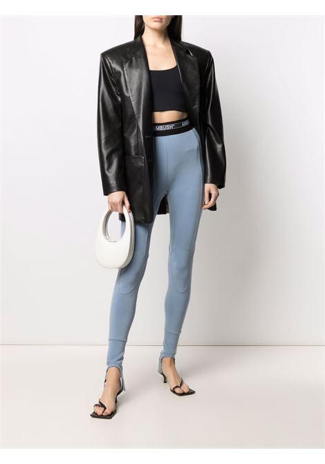 Logo-waistband stirrup leggings women  AMBUSH | BWCD001S21JER0014000