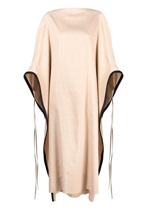 Ambush abito con mantella donna beige AMBUSH | Abiti | BWD005S21FAB0016100