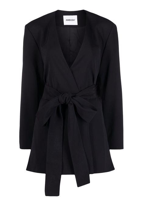 Ambush giacca da annodare in vita donna jet black AMBUSH | Giacche | BWEN006S21FAB0011000