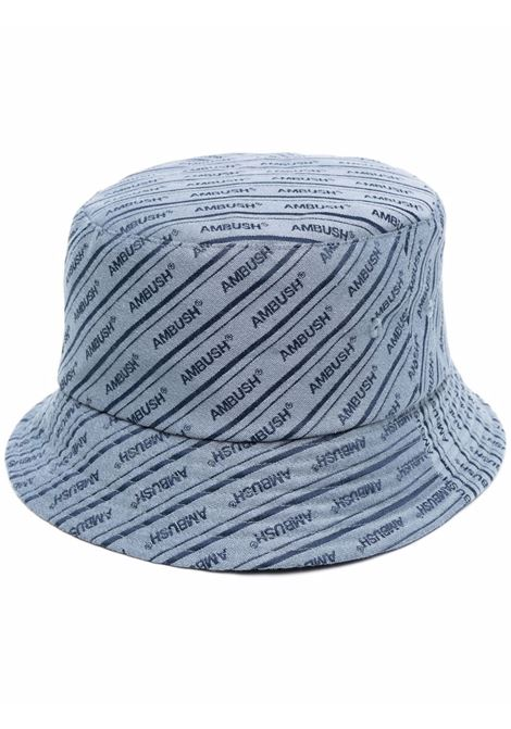 Ambush cappello bucket a righe donna light blue AMBUSH | Cappelli | BWLA001S21FAB0014045