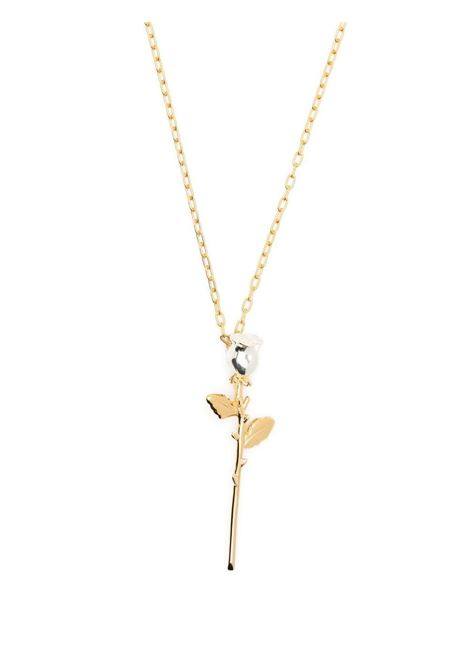 Ambush collana con pendente rose donna gold AMBUSH | Collane | BWOB014S21MET0027600
