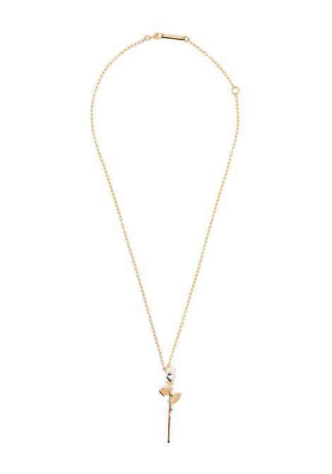 Rose pendant necklace AMBUSH | BWOB014S21MET0027600