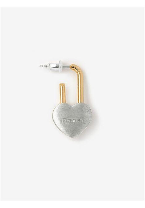 Padlock Heart earring AMBUSH | BWOD002S21MET0017200