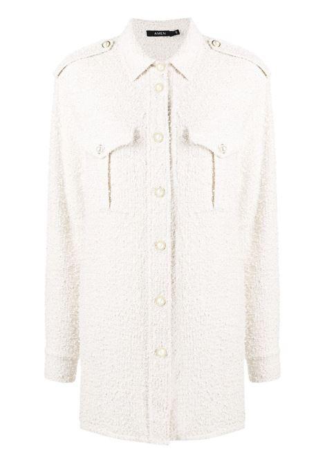 Amen camicia lunga donna off white AMEN | Camicie | AMS21102081
