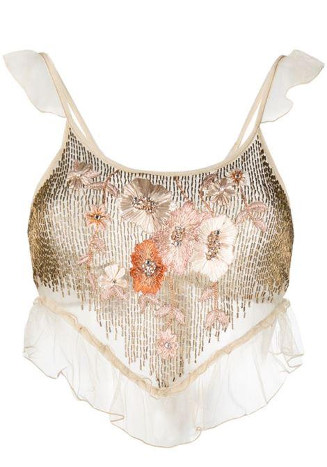 Floral mesh top AMEN | Top | AMS21219089