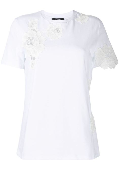 T-shirt con pannelli in pizzo Donna AMEN | T-shirt | AMS21224001