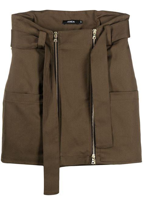 Belted mini skirt AMEN | Skirts | AMS21308095