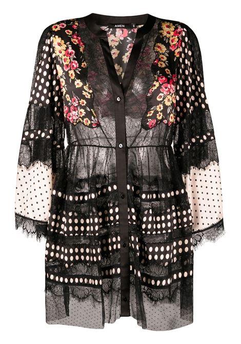 Blusa plissettata Donna AMEN | Bluse | AMS21408089