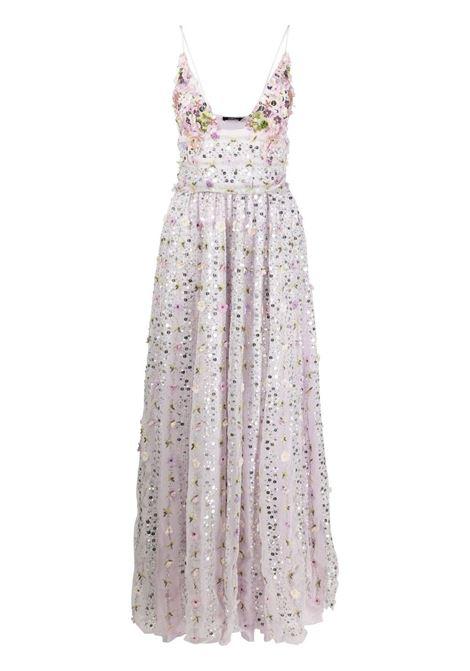 Amen abito lungo a fiori donna lilac AMEN | Abiti | AMS21550143