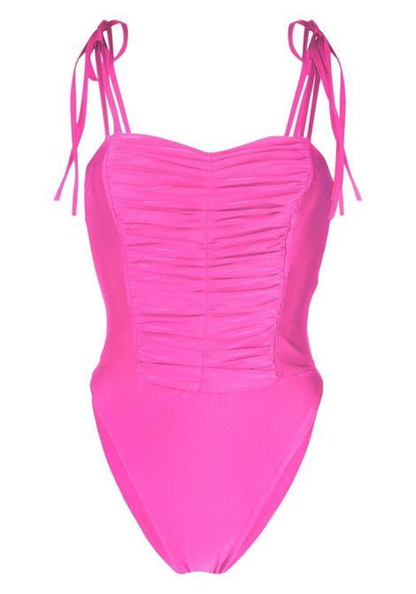 Amen costume da bagno drappeggiato donna pink fluo AMEN | Costumi | AMS21854073