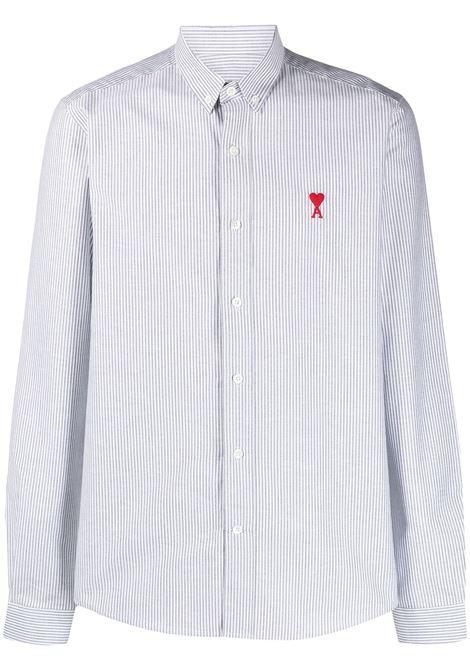 Ami Paris camicia ami de coeur uomo noir blanc AMI PARIS | Camicie | BFHC013403004