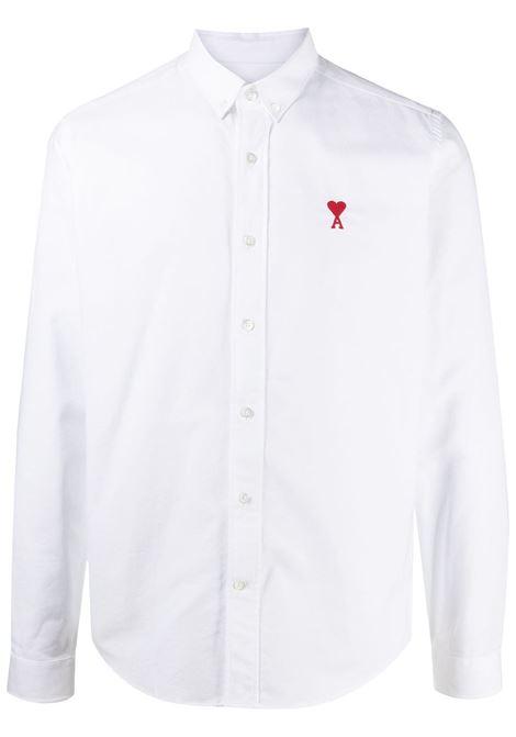 Ami Paris camicia ami de coeur uomo white AMI PARIS | Camicie | BFHC01345100