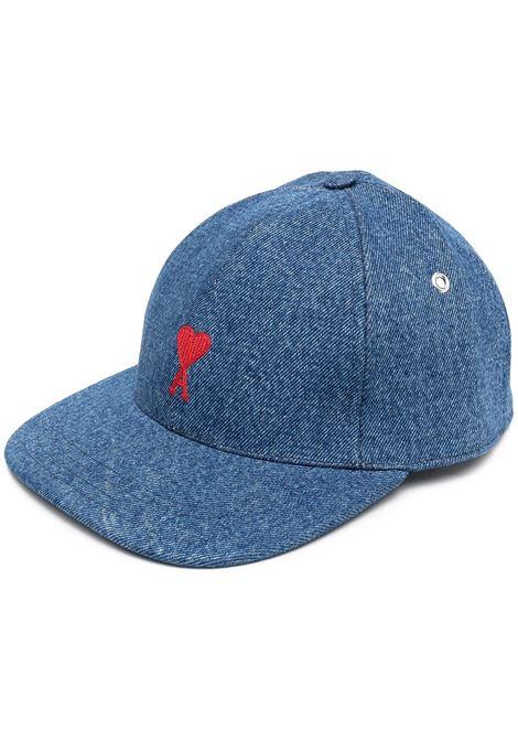 Ami Paris cappello ami de coeur uomo used blue AMI PARIS | Cappelli | E21HA213601480