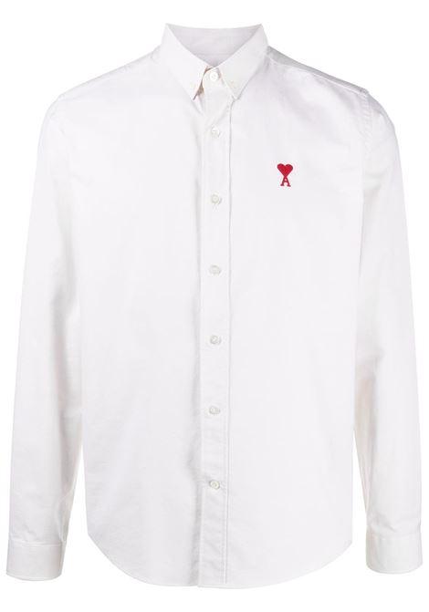 Ami Paris camicia ami de coeur uomo off white AMI PARIS | Camicie | E21HC01345150