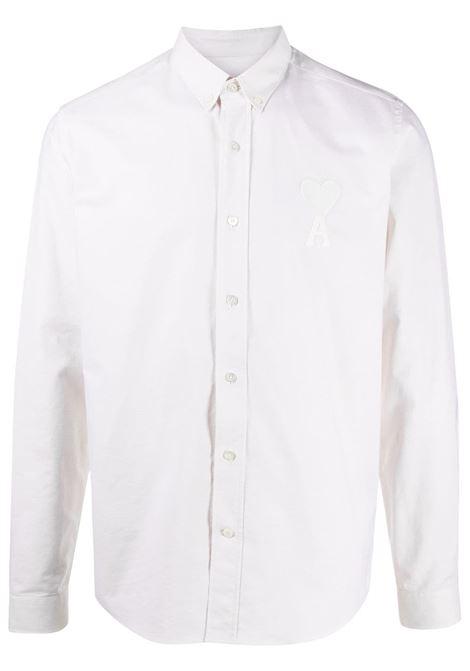 Ami Paris camicia con colletto button-down uomo off white AMI PARIS | Camicie | E21HC02445150
