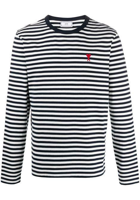 Ami Paris maglione ami de coeur uomo navy off white AMI PARIS | Maglie | E21HJ10672419