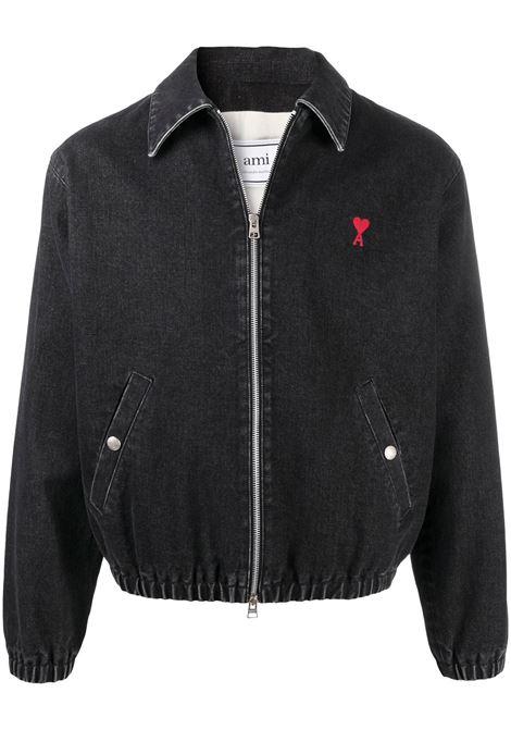 Ami Paris giacca ami de coeur uomo used black AMI PARIS | Capispalla | E21HOW013611031