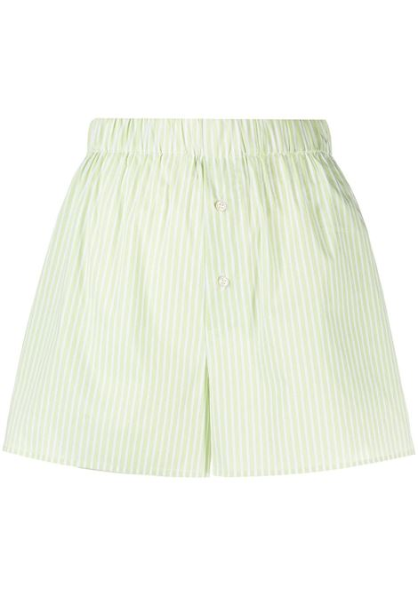 The Andamane shorts a righe donna green white THE ANDAMANE | Shorts | T090411ATNC118866